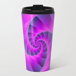 Pink and Blue Spiral Travel Mug