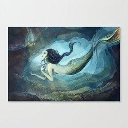 mermaid treasure Canvas Print