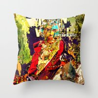 lucas david Throw Pillows featuring David by Lanny Quarles