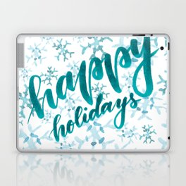 Happy Holidays - teal Laptop & iPad Skin