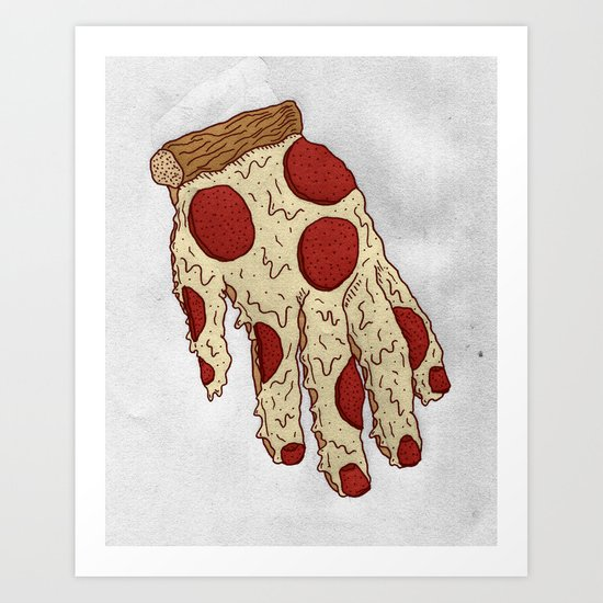 PIZZA HAND Art Print