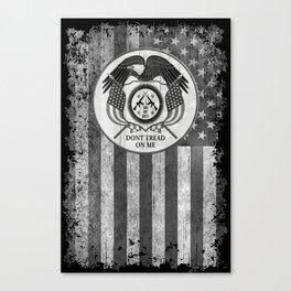 Faith Hope Liberty & Freedom Eagle on US flag Canvas Print