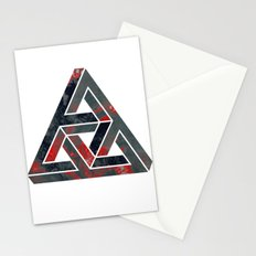 impossible triangle red Stationery Cards
