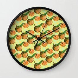 gecko orange Wall Clock