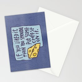 Cheese On It Stationery Cards