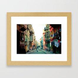 Istanbul colors Framed Art Print