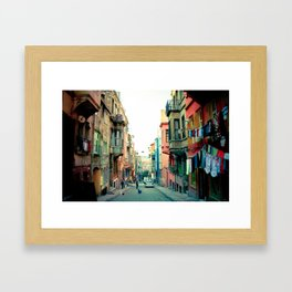 Istanbul colors Framed Art Print