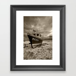 Dark Dungeness Framed Art Print