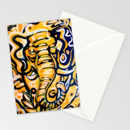 Gold Luck Elephant Stationery Cards