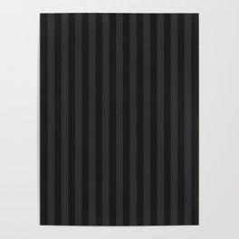 Charcoal Black Stripes Pattern Poster