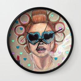 Nicotine Vanity Wall Clock
