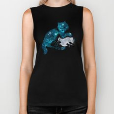 I can haz the moon Biker Tank