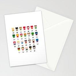 Superhero Alphabet Stationery Cards