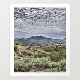 Catalina Clouds Art Print