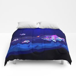 Anglerfish, lie and bioluminescence Comforters