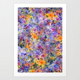 Yellow Primrose Garden Art Print