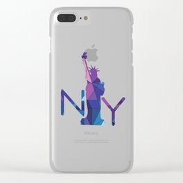 NY Statue of Liberty Clear iPhone Case