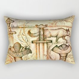 Szőtt tánc a Föld és az Ég Rectangular Pillow
