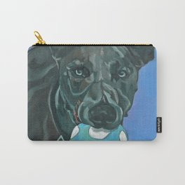 Fly the Whippet Dog Portrait Carry-All Pouch