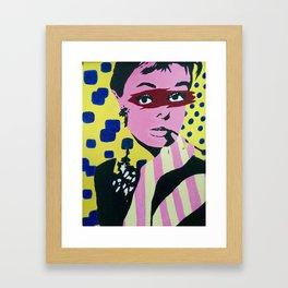Audrey Hepburn Pop art Framed Art Print