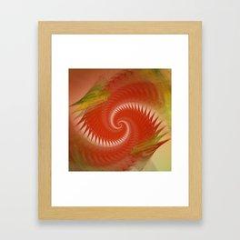 flames on texture -20- Framed Art Print