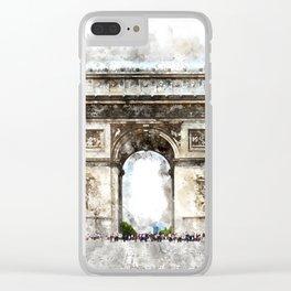Arc de Triomphe, Aquarell Clear iPhone Case