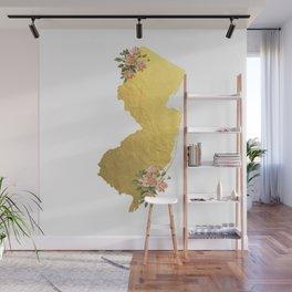 Baesic Gold Foil New Jersey Wall Mural