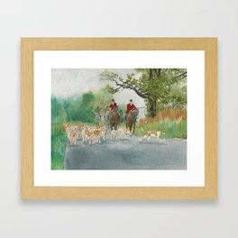 Fox Hunt 2 Framed Art Print
