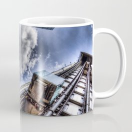 Lloyd's the Cheese Grater and Gherkin buildings London Coffee Mug