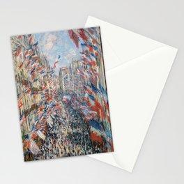 Claude Monet - La Rue Montorgueil Stationery Cards