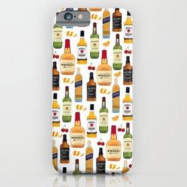 Whiskey Bottles Illustration iPhone Case