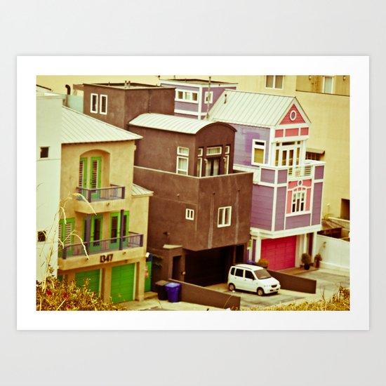 Colorful Condos Art Print