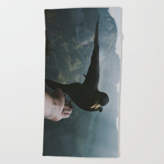 A wild Bird - landscape photography Beach Towel