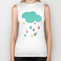 cassia beck Biker Tanks featuring Sunshine and Showers by Cassia Beck