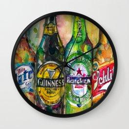 Miller Lite - Guinness- Heineken -Schlitz-Stella Artois Wall Clock