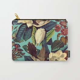 FLORAL AND BIRDS XXI Carry-All Pouch