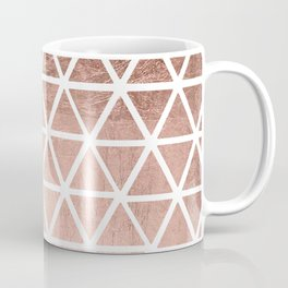 Geometric faux rose gold foil triangles pattern Coffee Mug