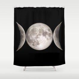 Triple Moon Shower Curtain