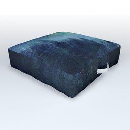 Watercolor Galaxy Nebula Northern Lights Painting Outdoor Floor Cushion