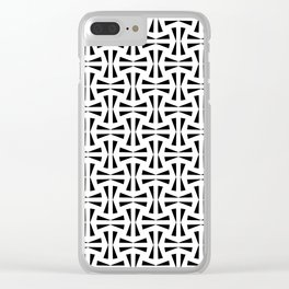 Black Bow Ties Clear iPhone Case