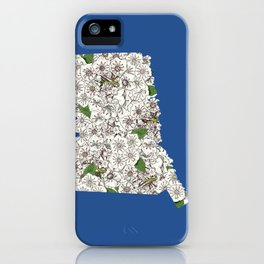 Connecticut in Flowers iPhone Case