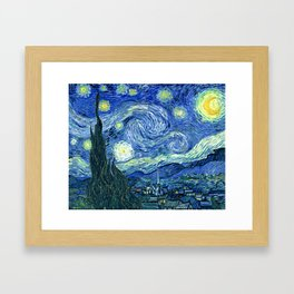 Vincent van Gogh Starry Night 1889 Framed Art Print