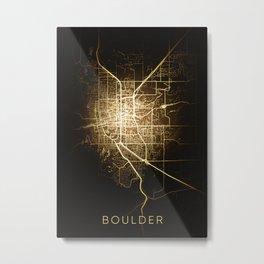Boulder Colorado city night light map Metal Print