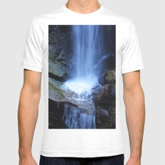 Fonias River Samothrace Greece MEDIUM Mens Fitted Tee White