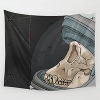 outer space Wall Tapestries featuring Creatures from outer space by Steph Bourne