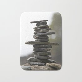 West Coast Inukshuk with Bokeh  #decor #society6 #buyart Bath Mat