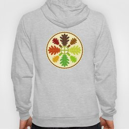 Mighty Oak Folk Art Hex Sign Hoody