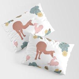 Floral & Llama Pillow Sham