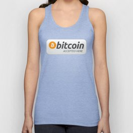 Accepted here: Bitcoin Unisex Tank Top