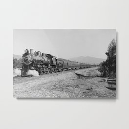 Deluxe Overland Limited Passenger Train Metal Print